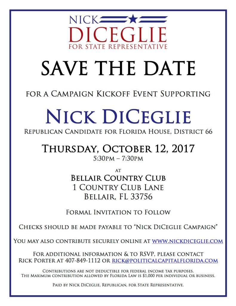 Nick DiCeglie Fundraiser - 10-22-2017