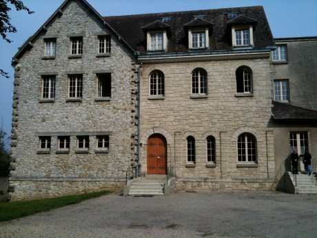 One of the buildings of Faremoutiers, France. I was there in September 2009. I tried to visit with the current Abbess, but she only spoke French and I speak very little French.