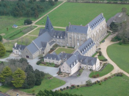 Aerial view of Lagny Abbey