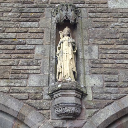 Statue of St. Hilda at Sneaton Castle, Whitby
