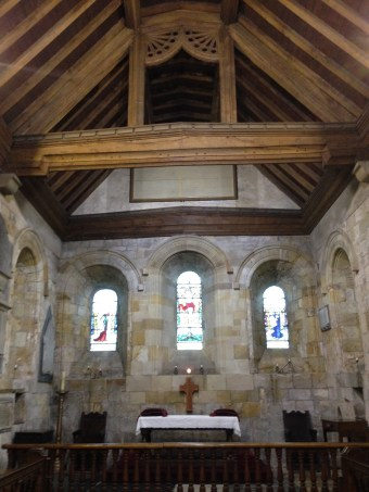 Chancel Area of St. Mary's Church, Whitby, at the top of 199 steps! it is thought by some that the chancel area is built over St. Hilda's first wooden church. Sept. 2014