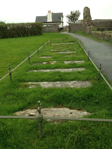 Poignant line of women's graves outside the Iona Nunnery, Sept. 2014