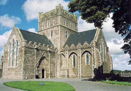 Kildare Cathedral likely on foundation of original church or nearby