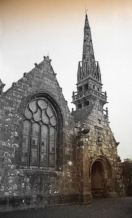 Church of Dirinon in Brittany, France where St. Non is buried.