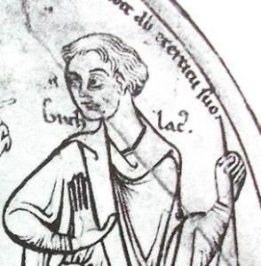 A detail of an illustration from 'The life of Saint Guthlac' (Manuscript from the 12th century, British Museum Library Board) H. W. Koch: Illustrierte Geschichte der Kriegszüge im Mittelalter, S. 142, Bechtermünz Verlag, ISBN 3-8289-0321-5. from wikipedia