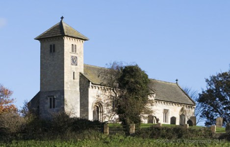 St. John the Baptist Church at Helaugh. Likely built over or near Hieu's monastery/hermitage.
