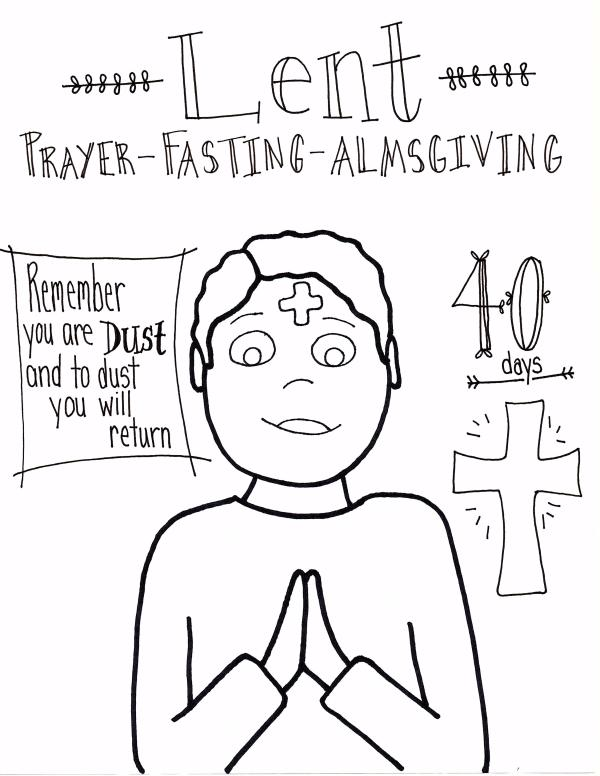 ash wednesday coloring pages # 9