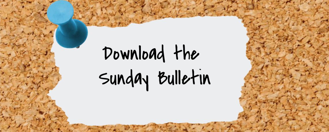 Sunday Bulletin – October 17, 2021