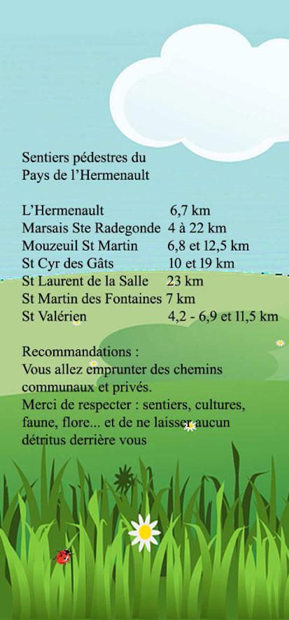 Sentiers pédestres pays de l'Hermenault Saint Valérien en Vendée