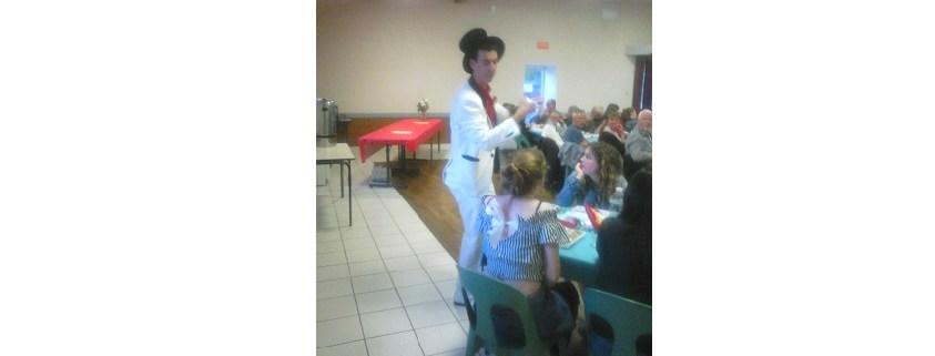 soirée magie à Saint Valérien le 29 Avril 2017