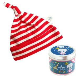 Baby Hat.red stripe pot