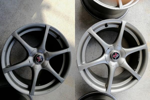 スカイライン R34 GT-R 純正色再塗装 傷補修