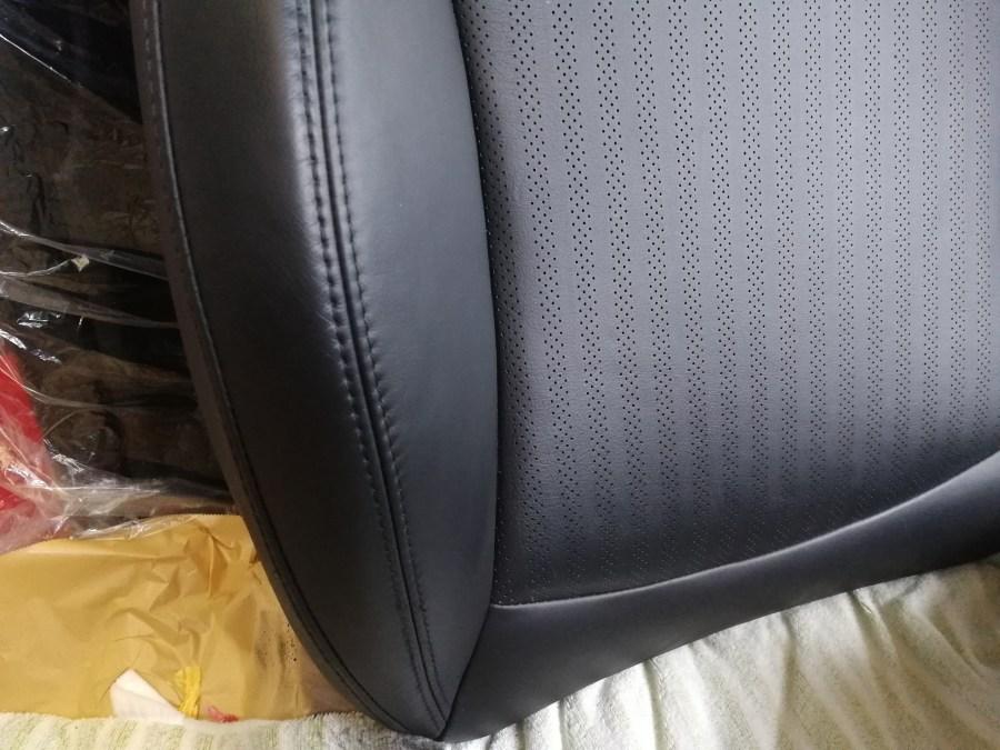 BMW ミニ黒革シート擦れ補修後