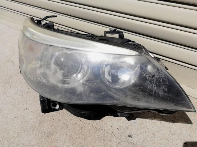BMW 740i E65 ヘッドライト補修 コーティング 施工前