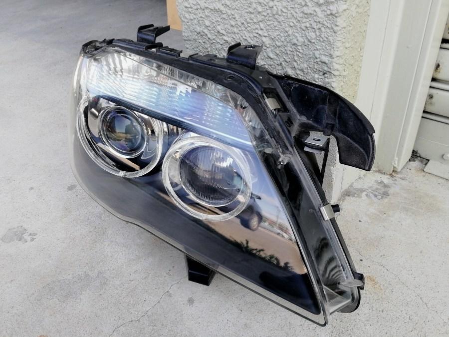 BMW 740i E65 ヘッドライト補修 コーティング 施工後