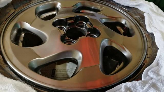 日産 14インチ 純正ホイール ハイパーシルバー カラーチェンジ クリアー塗装