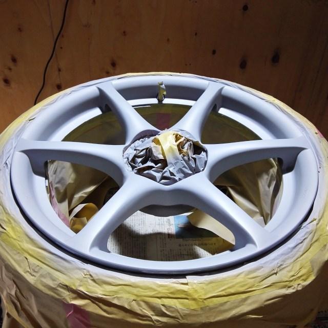 スカイライン R34 GT-R 純正18インチホイール カラーチェンジ 2回目プライマー塗装