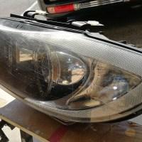 BMW 320i E90 スパシャン ヘッドライトスチーマー2 SPEED その2 施工前