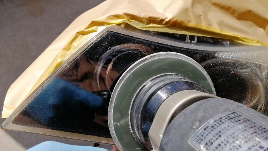 BMW 320i E90 スパシャン ヘッドライトスチーマー2 SPEED その2 磨き