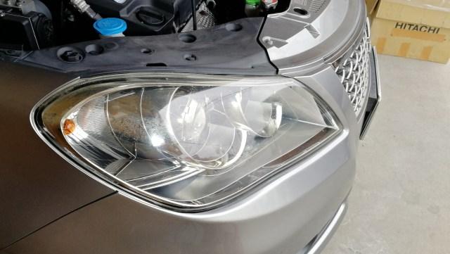 キザシ スパシャン ヘッドライトスチーマー ヘッドライトコーティング 名古屋市 施行前