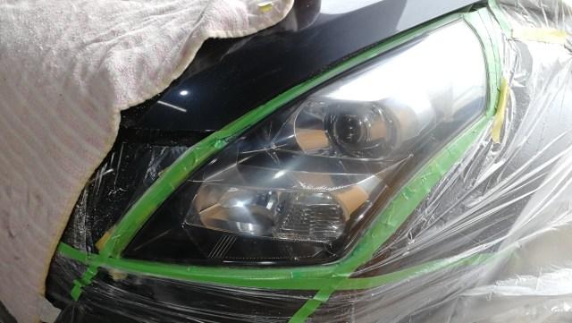 マツダ MPV ヘッドライトコーティング スパシャン ヘッドライトスチーマー 磨き