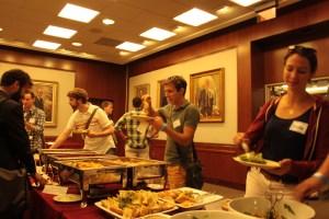 Joe Geni served himself the Italian food provided at the dinner. (Nimisha Jaiswal)