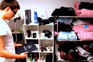 SAIS student Kevin Pang looks through the store. (SARAH RASHID)