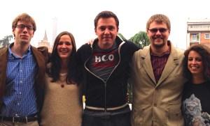 From left to right: SGA representatives Roy Martin, Irena Grizelj, Kristo Kentala, David Collins and Giulia Motolese. (Rachel Finan)