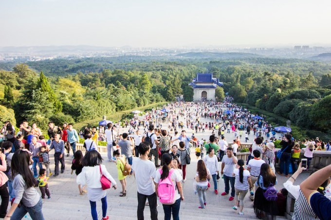 """During the summer, Nanjing is famous for being one of China's notorious """"oven cities"""", and in the winter, Nanjing is notoriously cold and lacks heaters in most buildings. But during Guo Qing Jie, the weather is perfect for sightseeing."""