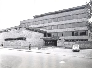 The Bologna Center exterior has not changed much since it was opened in the early 1960s. (Photo: JHU Archives)