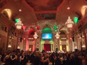 The Hofburg Palace's main ballroom, the Festsaal, saw SAIS students join hundreds of other couples waltzing around the dance floor. (Image Credit: Bryn Jansson)