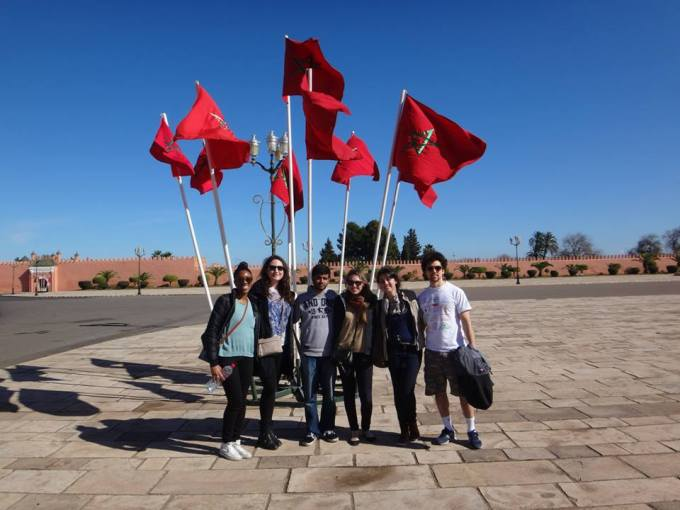 Group photo in Marrakech, Morocco. (Photo: Chelsea Boorman)