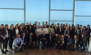 The SAIS delegation with Former President Shimon Peres (Photo: Yonatan Zaid)