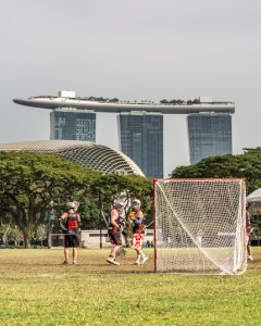 The games were played in the center of downtown Singapore with a spectacular view of the iconic Marina Bay Sands (Source: Barton Wheeler)