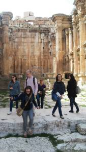 Students visited Roman ruins in the city of Baalbek, in Lebanon's Bekaa Valley. (Photo: Patrick Rear)