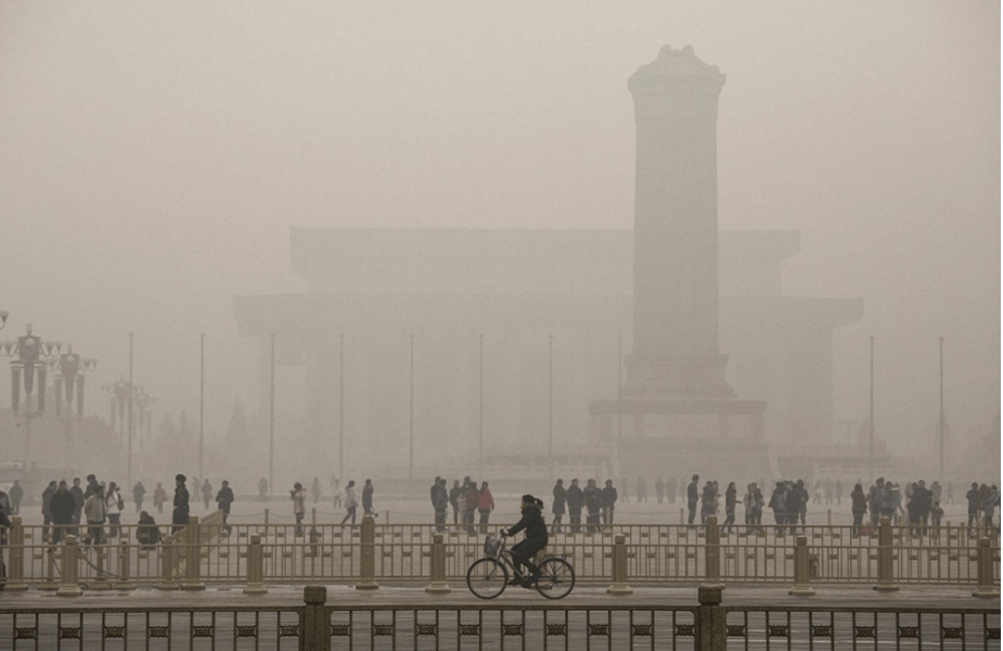 Pauley - Illustration 1 Smog in Beijing obscuring vision