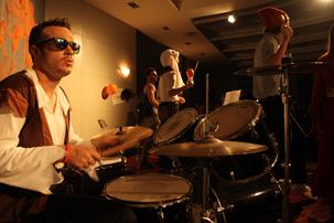 Drummer Sam Smith - Photo credits: Hopkins-Nanjing Center WeChat group
