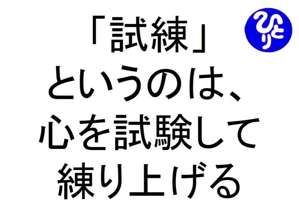 試練というのは心を試験して練り上げる斎藤一人 仕事がうまくいく315のチカラ346