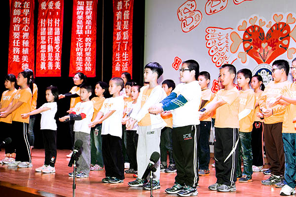 Boys perform in Birthday programme