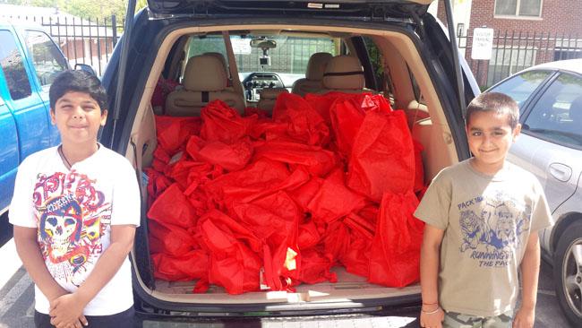 Food packages for distribution in Nashville
