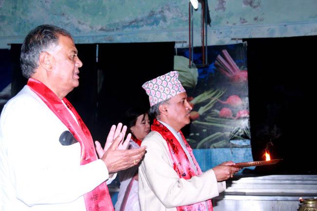 Chief Secretary, Government of Nepal at arati