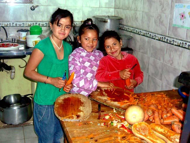 Food preparation, Buenos Aires, Argentina