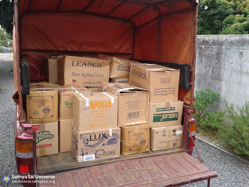 Mauritius Relief Supplies for distribution