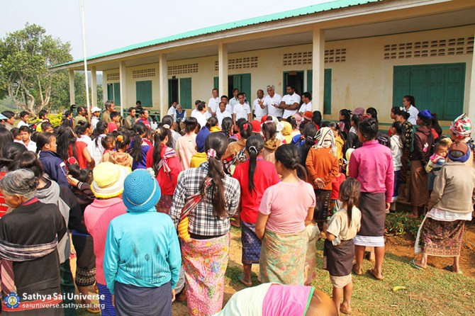 Briefing villagers before the Medical Camp