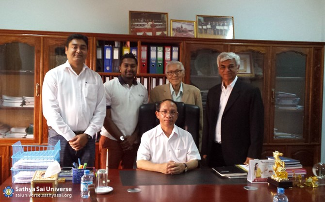 Meeting with the Sekong Provincial Governor