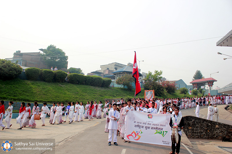 nepal-youth-conference-procession-chanting-veda
