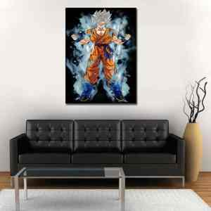 Goku White Super Saiyan God Iconic 1pc Wall Art Canvas Print