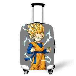 Goten Super Saiyan 2 Form Gray Luggage Protective Cover
