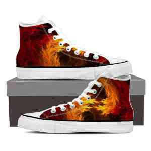 DBZ Super Saiyan Orange Aura Flame Fire Dope Sneakers Shoes
