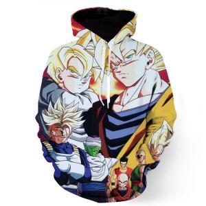 Dragon Ball Heroes Group Saiyan Human Cool Streetwear Design Hoodie